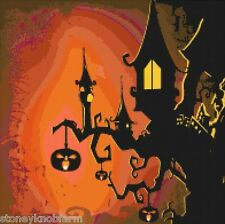 Haunted House ~ Halloween ~ Counted Cross Stitch Pattern