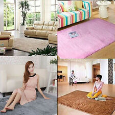 120x80CM Luxurious Soft Solid Rug Mat Plush Bedroom Bathroom Room Shaggy Carpet