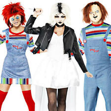 Chucky Horror Movie Adult Fancy Dress Halloween Party Mens Womens Costume Outfit