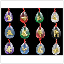 Chinese Horoscope Zodiac Animal Austria Glass Crystal Necklace Pendant Astrology
