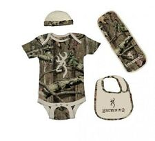 BROWNING BUCKMARK & TAN MOSSY OAK INFINITY BABY INFANT SET - 4 PIECES