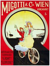 8175.Migotti & Cie Wien.two woman riding bicycle.POSTER.art wall decor