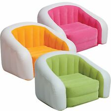 Intex Cafe Club Chair Inflatable Dorm Lounge Waterproof Flocked Seat