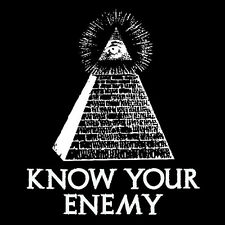 ILLUMINATI KNOW YOUR ENEMY (Anti-NWO new world order ancient babylon) T-SHIRT