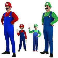 New Adult Kids Halloween masquerade costume cos Louis Super Mario clothes SW0007
