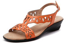 ZENSU BLOOM WOMENS/LADIES LEATHER COMFORT CASUAL SANDALS/WEDGES/FASHION