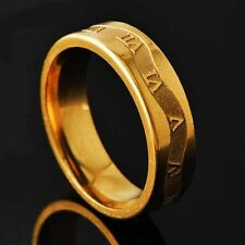 Classic Mens Unisex Rome digital Gold Filled Ring Size 8,9,10,11# D2719-D2722