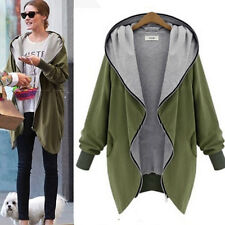 Oversized Women Cotton Baggy Hoodie Jacket Warm Cardigan Coat Zipper Outerwear