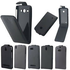 PU Leather Vertical Flip Case Cover Accessories For Various Samsung Phone Black