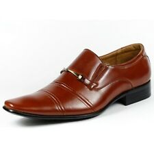 Delli Aldo Mens Slip on Wing Tip Dress Classic Shoes w/ Leather lining M-19088