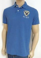 American Eagle Outfitters AEO 01-977 Appliqued Mens Cotton Blue Polo Shirt NWT