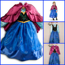 Kids Girls Dresses Queen Elsa dress costume Princess Anna School Party AGE 3-8Y
