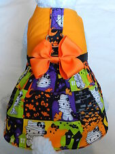 DOG CAT FERRET~Harness Dress HALLOWEEN HELLO KITTY Mummy Gothic w/ Matching BOW