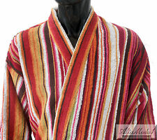 MISSONI HOME BATH ROBE FIZZ T59 SIZES L XL XXL RED  100% COTTON MADE IN ITALY us
