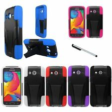 For Samsung Galaxy Avant G386T V3 Kickstand Double Layer Case Phone Cover Stylus