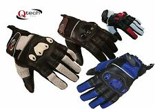 MOTORCYCLE Short Cuff Summer GLOVES Motorbike Red Black White By Qtech