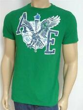 American Eagle Outfitters AEO 3 Tee Shirt Mens Cracked Logo T-Shirt Green NWT