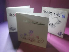 personalised wedding invitations with insert and motif with  text on the cover