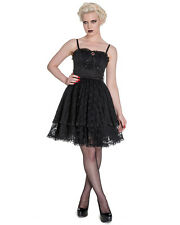 Spin Doctor Zylphia Mini Dress Black Lace Gothic Steampunk VTG Victorian Witch