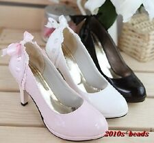 2013 women's high heels shoes princess bowknot of shoes