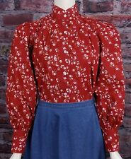 FRONTIER CLASSICS Red Floral Garden City Blouse Dickens SASS Steampunk