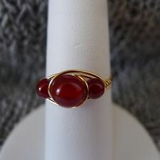 Carnelian Gold Filled  Wire Rings Sizes  4-13.5     Choose your size