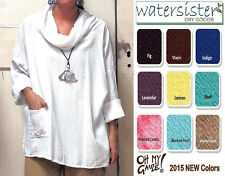 OH MY GAUZE  Cotton  TORTUS  Cowl Pocket Tunic Top  OSFM  XL/1X/2X  2015 COLORS