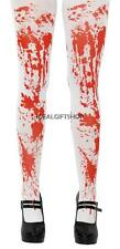 BLOODY TIGHTS LADIES FANCY DRESS COSTUME BLOOD HALLOWEEN MURDER GORY