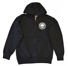 Harley-Davidson Men's Sweatshirt Hoodie, Willie G. Skull Full Zip, Black R000751