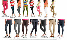 NEW Women's Casual Knit colored  Jeggings Skinny Pants Jeans Leggings XS S L XXL