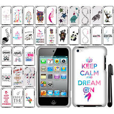 For Apple iPod Touch 4 Art Design PATTERN HARD Protector Case Phone Cover + Pen