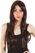 Women Stylish Long Curly Wave Full Wig Hair Big Curl with Bang Free Wig Cap