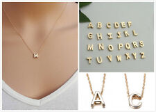 To Women Gold Plated Letter name Initial chain Pendant Fashion Necklace New