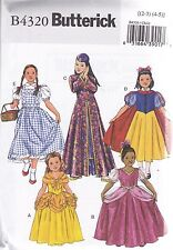 Butterick Sewing pattern Children's/Girls Character Costumes sizes 7 - 16 B4320