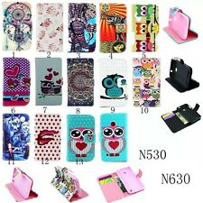 PU Leather Wallet Card Folio Flip Phone Case Cover Stand For Nokia Lumia 530 630