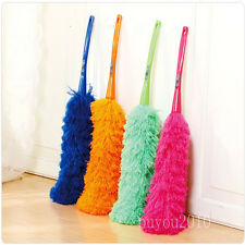 Soft Microfiber Cleaning Feather Duster Magic Anti Static Dust Cleaner Handle