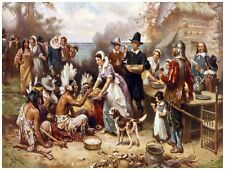 9135.Images of the first thanksgiving on plymouth.POSTER.decor Home Office art