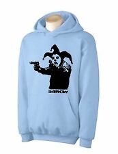 BANKSY CLOWN WITH PISTOLS HOODY -   Insane Guns T-Shirt - Choice Of 6 Colours