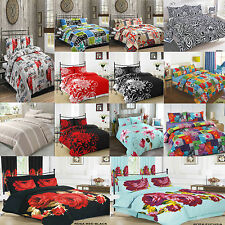 Reversible Polycotton Duvet Cover with PillowCases Bedding Set Exclusive Designs
