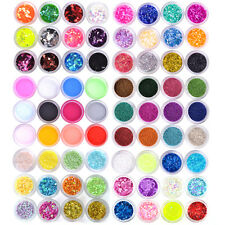 Multi-colors Nail Art Acrylic UV Gel Glitter Powder Beads Sheet Chip Lace Set