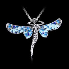 Women Fashion New Alloy Austrian Crystal Butterfly Sweater Pendant Necklace Gift