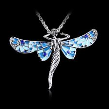 Women Fashion New Austrian Crystal Butterfly Sweater Pendant Necklace Party Gift