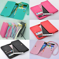 Wallet Card full Case cover For Vodafone Toshiba Unnecto verykool T-Mobile Sharp