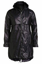 La Redoute Black Plus Size Wax Waxed Parka Jacket Coat Mac & Quilted Jacket