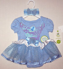 Nwt New Disney Princess Cinderella Costume One Piece Blue Cute Nice Infant Girl