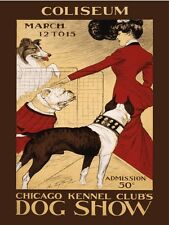 9410.Coliseum.chicago kennel club's dog show.POSTER.decor Home Office art
