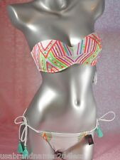 Sexy VICTORIA'S SECRET PUSH UP Perlen BIKINI 75B 75C / L  ORIGINAL NEU