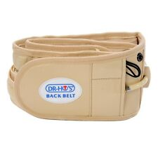 New -DR-HO's 2-In-1 Back Relief Belt, - 2 Size Options, Sealed.