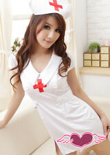 I51 Sexy White Nurse Uniform Costume for Cosplay/Lingerie/Halloween Party S/M/L