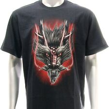 r120 Sz XL XXL Rock Eagle T-shirt Tattoo Skull Glow in Dark Dragon Reaper Heaven